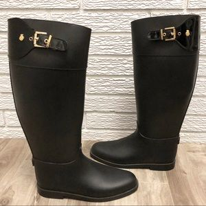 Lemon Jelly | Riding Style Buckle Tall Rain Boots